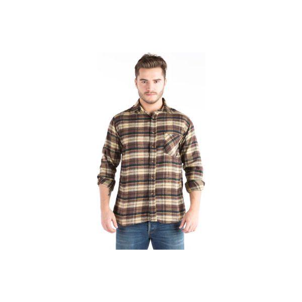 Koszula męska z kieszeniami, z guzikami, z kołnierzykiem