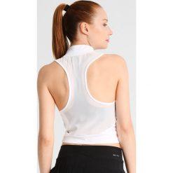 Nike Performance Koszulka sportowa white/black. Białe t-shirty damskie Nike Performance, l, z elastanu. W wyprzedaży za 125,30 zł.