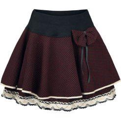 Innocent Aya Bow Spódnica czarny/czerwony. Niebieskie spódniczki marki Innocent, xl, w ażurowe wzory, z materiału, z dekoltem na plecach. Za 99,90 zł.