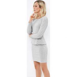 Minispódniczki: Żakardowa spódnica z elastanem