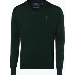 Polo Ralph Lauren - Męski sweter z wełny merino – Slim Fit, zielony. Zielone swetry klasyczne męskie Polo Ralph Lauren, l, z dzianiny, polo. Za 659,95 zł.