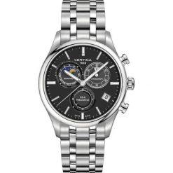 RABAT ZEGAREK CERTINA DS 8 Chrono Moon Phase C033.450.11.051.00. Czarne, cyfrowe zegarki męskie marki CERTINA, ze stali. W wyprzedaży za 2851,20 zł.