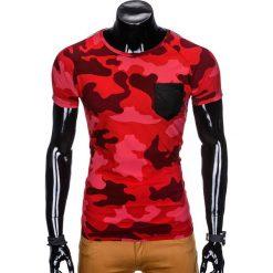 T-SHIRT MĘSKI Z NADRUKIEM MORO S948 - CZERWONY/MORO. Zielone t-shirty męskie z nadrukiem marki Ombre Clothing, na zimę, m, z bawełny, z kapturem. Za 39,00 zł.