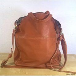 Ciemno Kamelowa skórzana torba 02. Brązowe torebki klasyczne damskie Pakamera, ze skóry, duże. Za 320,00 zł.