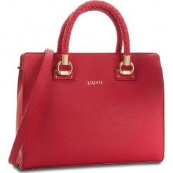 Torebka LIU JO - L Satchel Manhattan N68099 E0087 Red 91656. Czerwone torebki klasyczne damskie Liu Jo, ze skóry ekologicznej, zdobione. Za 689,00 zł.