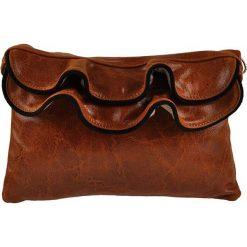 Puzderka: Skórzana kopertówka w kolorze brązowym – 25 x 16 x 8 cm