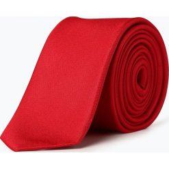 Olymp Level Five - Krawat jedwabny męski, czerwony. Czerwone krawaty męskie OLYMP Level Five, z jedwabiu. Za 149,95 zł.