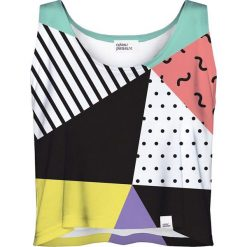 Colour Pleasure Koszulka damska CP-035 24 biało-czarna r. M-L. Białe bluzki damskie marki Colour pleasure, l. Za 64,14 zł.