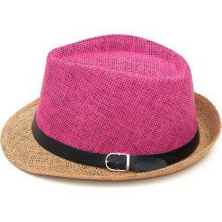 Kapelusz damski Kolorowy szyk brązowo różowy. Brązowe kapelusze damskie marki Art of Polo, w kolorowe wzory. Za 28,94 zł.