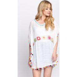 Bluzki asymetryczne: Biała Bluzka Kimono Girl