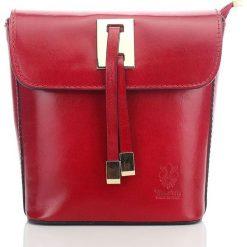 Kuferki damskie: Włoska elegancka skórzana torebka kuferek LAWRENCE