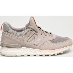 New Balance - Buty WS574PMC. Brązowe buty do fitnessu damskie New Balance, z materiału. Za 449,90 zł.