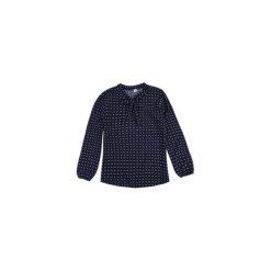 Bluzki asymetryczne: bluzka damska z wiązaniem klasyczna we wzory