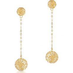 Kolczyki damskie: PROMOCJA Złote Kolczyki – złoto żółte 375