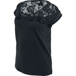T-shirty damskie: Urban Classics Ladies Top Laces Tee Koszulka damska czarny