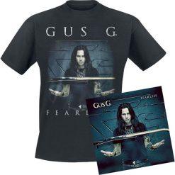 Gus G. Fearless CD + T-Shirt standard. Fioletowe t-shirty męskie marki KIPSTA, m, z elastanu, z długim rękawem, na fitness i siłownię. Za 94,90 zł.