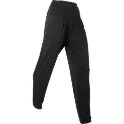 """Spodnie haremki """"wellness"""", długie, Level 1 bonprix czarny. Czarne bryczesy damskie bonprix, na fitness i siłownię. Za 74,99 zł."""