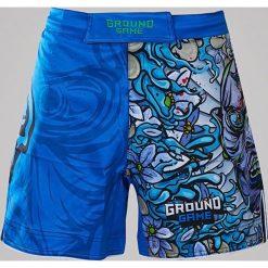 Spodenki i szorty męskie: Ground Game Sportswear Spodenki MMA Namakubi niebieskie r. S