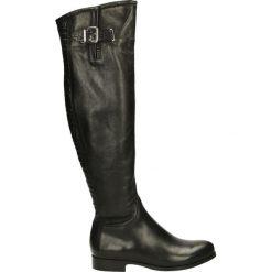 Kozaki - 518-16 S-C NE. Czarne buty zimowe damskie Venezia, ze skóry. Za 399,00 zł.