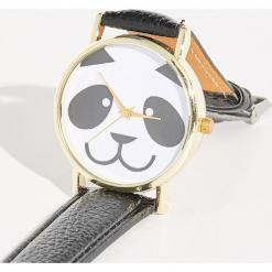 Zegarek panda - Czarny. Czarne zegarki damskie marki Sinsay. Za 24,99 zł.