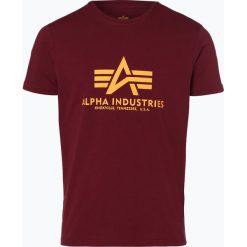 T-shirty męskie z nadrukiem: Alpha Industries – T-shirt męski, czerwony