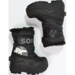 Sorel SNOW Śniegowce black. Czarne buty zimowe chłopięce Sorel, z materiału. W wyprzedaży za 148,85 zł.