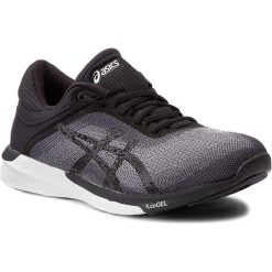 Buty ASICS - FuzeX Rush T768N Midgrey/Black/White 9690. Czarne buty do biegania damskie Asics, z materiału, asics fuzex. W wyprzedaży za 329,00 zł.