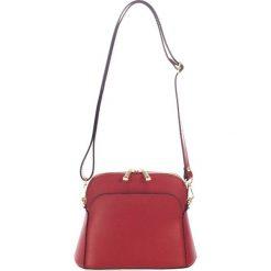 Torebki klasyczne damskie: Skórzana torebka w kolorze bordowym – 23 x 12 x 7 cm
