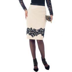 Spódniczki z wysokim stanem: Spódnica w kolorze ecru