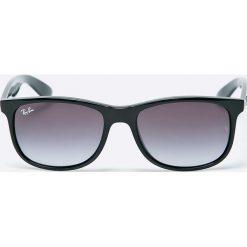 Ray-Ban - Okulary Andy. Szare okulary przeciwsłoneczne męskie wayfarery marki Ray-Ban, z materiału. Za 479,90 zł.