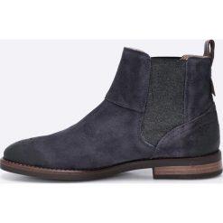 Marc O'Polo - Botki. Czarne buty zimowe damskie Marc O'Polo, z gumy, z okrągłym noskiem, na obcasie. W wyprzedaży za 379,90 zł.