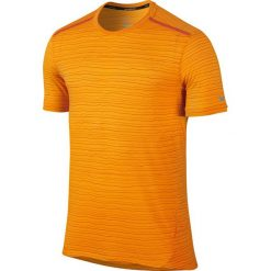 T-shirty męskie: koszulka do biegania męska NIKE DRI-FIT COOL TAILWIND STRIPE SHORT SLEEVE / 724809-868 – NIKE DRI-FIT COOL TAILWIND STRIPE SHORT SLEEVE