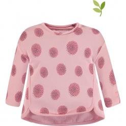 Bluza w kolorze jasnoróżowym. Czerwone bluzy dziewczęce rozpinane marki bellybutton, z bawełny. W wyprzedaży za 42,95 zł.
