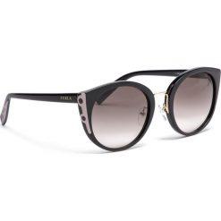Okulary przeciwsłoneczne FURLA - Rialto 995309 D 238F REM Onyx. Czarne okulary przeciwsłoneczne damskie Furla. Za 850,00 zł.