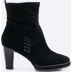 Tamaris - Botki. Szare buty zimowe damskie marki Tamaris, z materiału. W wyprzedaży za 179,90 zł.