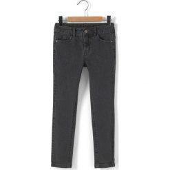 Jeansy, fason slim 3-12 lat. Czarne jeansy dziewczęce La Redoute Collections, z bawełny, z standardowym stanem. Za 70,52 zł.