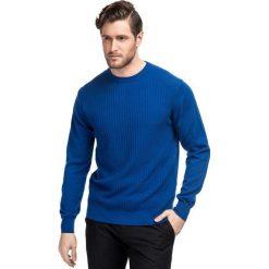 Sweter ADALBERTO SWNR000204. Niebieskie swetry klasyczne męskie Giacomo Conti, m, z bawełny. Za 229,00 zł.