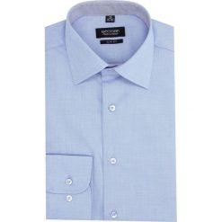 Koszula bexley 2454 długi rękaw slim fit niebieski. Niebieskie koszule męskie slim Recman, m, z długim rękawem. Za 139,00 zł.
