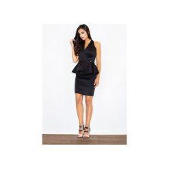 Sukienka M368 Czarny. Czarne sukienki balowe marki FIGL, m, z bawełny, z klasycznym kołnierzykiem, z długim rękawem, ołówkowe. Za 139,00 zł.