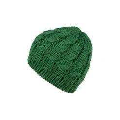Czapka damska Klasyczny warkocz zielona. Zielone czapki zimowe damskie Art of Polo. Za 20,43 zł.