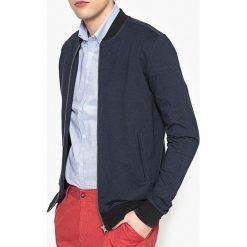 Bluza na suwak, kołnierz typu teddy. Szare bluzy męskie rozpinane marki La Redoute Collections, m, z bawełny, z kapturem. Za 126,38 zł.