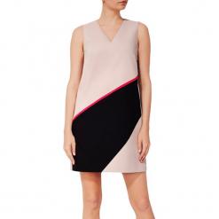Sukienka w kolorze różowo-czarnym. Sukienki małe czarne marki BOHOBOCO, z dekoltem na plecach, proste. W wyprzedaży za 919,95 zł.
