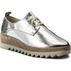 Oxfordy TOMMY JEANS - Metallic Platform Lace Up Shoe EN0EN00207 Silver 000. Szare jazzówki damskie marki Tommy Jeans, z jeansu, na płaskiej podeszwie. W wyprzedaży za 299,00 zł.
