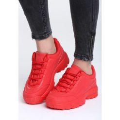 Czerwone Buty Sportowe Waves All Night. Czerwone buty sportowe damskie marki KALENJI, z gumy. Za 89,99 zł.