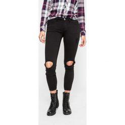 Tally Weijl - Jeansy Zoe. Czerwone jeansy damskie rurki marki TALLY WEIJL, l, z dzianiny, z krótkim rękawem. W wyprzedaży za 99,90 zł.