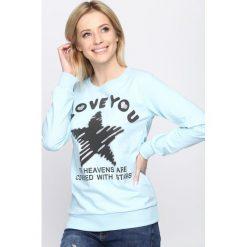 Bluzy damskie: Jasnoniebieska Bluza Good Morning