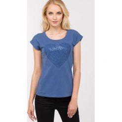 T-shirty damskie: T-shirt z serduszkiem