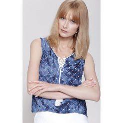 Bluzki damskie: Granatowa Bluzka Blond Venus