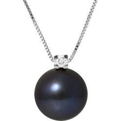 Naszyjniki damskie: Srebrny naszyjnik z perłą słodkowodną – dł. 42 cm