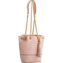 Torebka TORY BURCH - Fleming Mini Bucket Bag 49321 Shell Pink 652. Czerwone torebki worki Tory Burch, ze skóry. W wyprzedaży za 1059,00 zł.